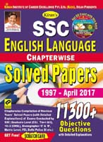 Kiran books for ssc | SSC English Language Chapterwise Solved Papers 11300+ Objective Questions English |  1920