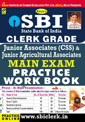 Kiran prakashan sbi clerk practice workbook | Sbi clerk grade jr. Associates & jr. Agriculture main exam practice work book english |  1643