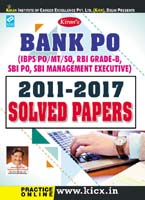 kiran publication bank po solved papers | BANK PO 2011 to 2017 Solved Papers  English | 1945